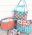 Diagonally Woven Baskets Pattern