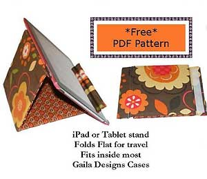Gaila Designs Free iPad or Tablet Stand in PDF