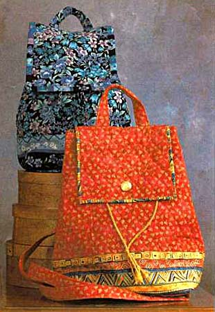 Quilted Backpack Pattern by The Kentucky Quilt Company