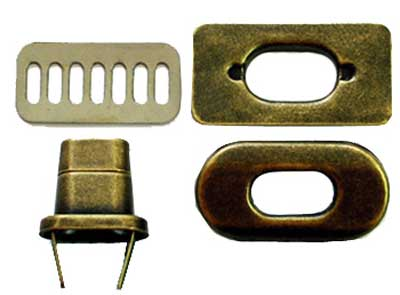 Metal Purse Twist Lock - Antique Brass