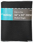 Mesh Fabric - Black (Medium Weight)