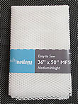 Mesh Fabric - White (Medium Weight)
