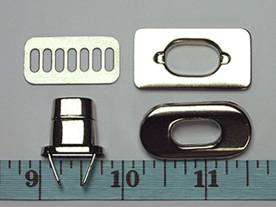 Metal Purse Twist Lock - Nickel