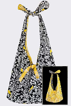 Knot Handle Reversible Tote Bag Pattern * - Click Image to Close