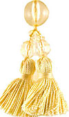 Beaded Tassel in Daffodil