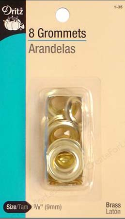 Small Grommets in Gold Brass