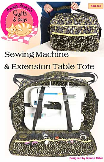 Sewing Machine and Extension Table Tote Pattern - Click Image to Close