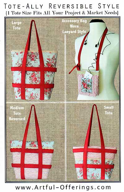 Tote-Ally Reversible Style Tote Pattern - Click Image to Close