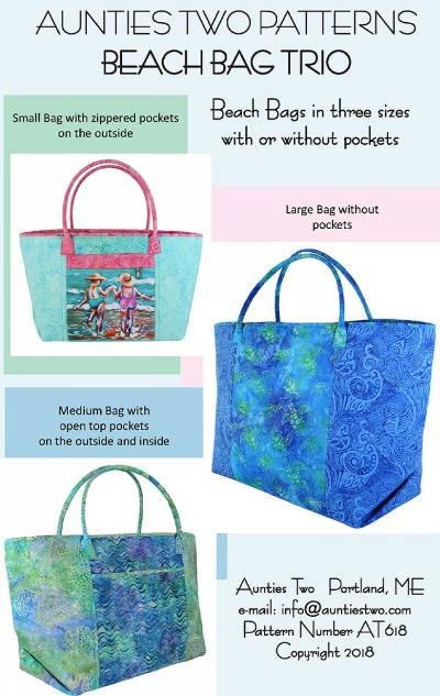 Beach Bag Trio Pattern - Click Image to Close