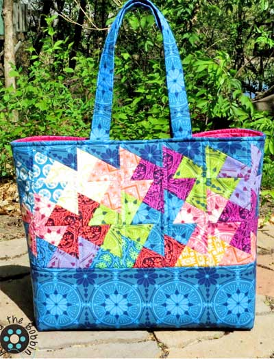 Simply Charming Twister Tote Pattern - Click Image to Close
