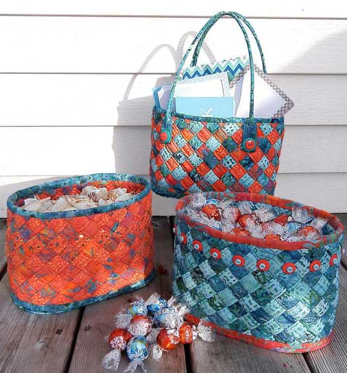 Diagonally Woven Baskets Pattern - Click Image to Close