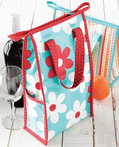 Wine and Dine Wine Bottle Carrier Pattern - Click Image to Close
