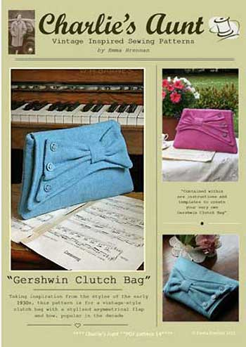Gershwin & Ellington Clutch Bags Pattern * - Click Image to Close
