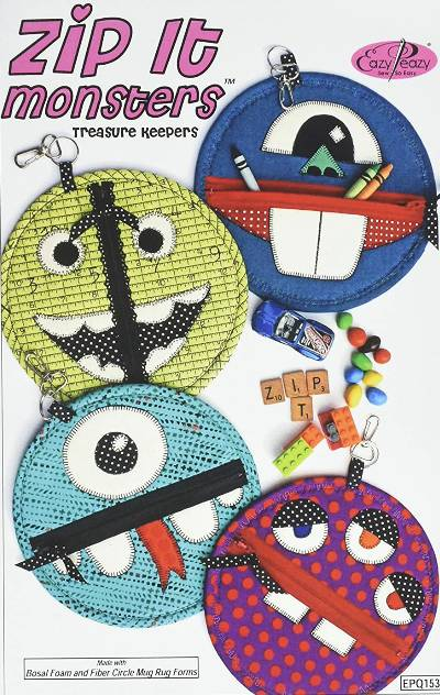 Zip It Monsters Treasure Keepers Pattern * - Click Image to Close