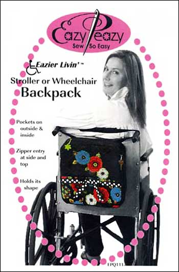 Stroller or Wheelchair Backpack Pattern - Click Image to Close