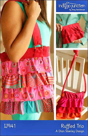 Ruffled Trio Bag Pattern - Click Image to Close
