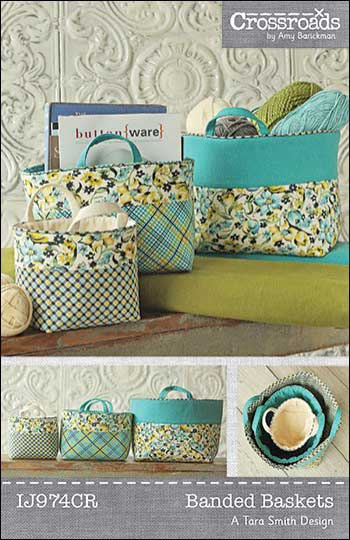 Banded Baskets Pattern - Click Image to Close