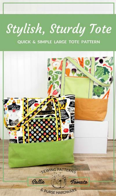Stylish, Sturdy Tote Pattern - Click Image to Close