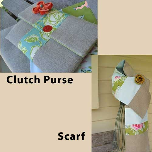April Showers Clutch and Scarf Pattern - Click Image to Close