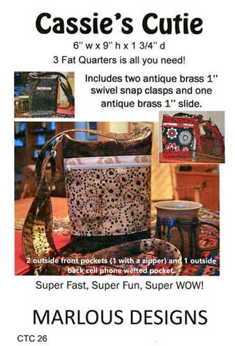 Cassie's Cutie Bag Pattern - Click Image to Close