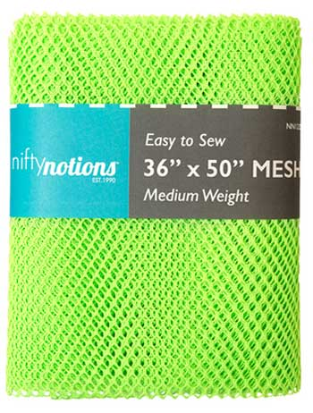 Medium Weight MESH Fabric - Lime Green - Click Image to Close