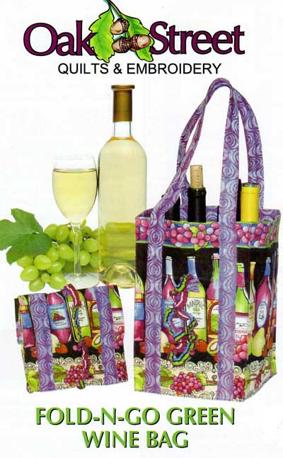 Fold-N-Go Green Wine Bag Pattern - Click Image to Close