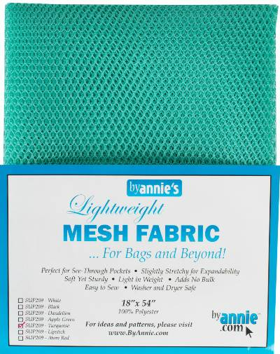 Lightweigt MESH Fabric - Turquoise - Click Image to Close