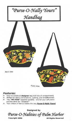 Purse-O-Nally Yours Purse Pattern * - Click Image to Close