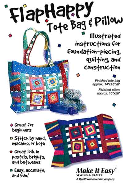 Flap Happy Tote and Pillow Pattern - Click Image to Close