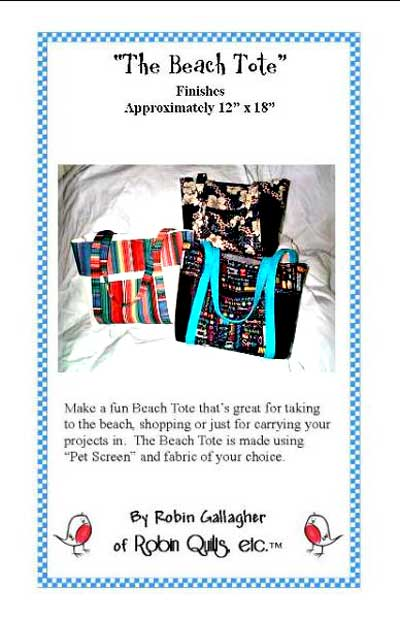 The Beach Tote Pattern - Click Image to Close