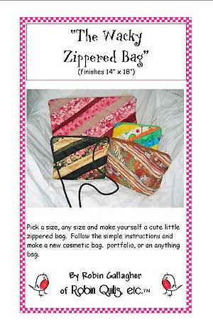 The Wacky Zippered Bag Pattern - Click Image to Close