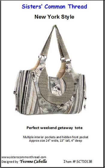 New York Style Tote Pattern - Click Image to Close