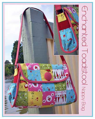 Enchanted Toadstool Nappy Bag Pattern - Click Image to Close
