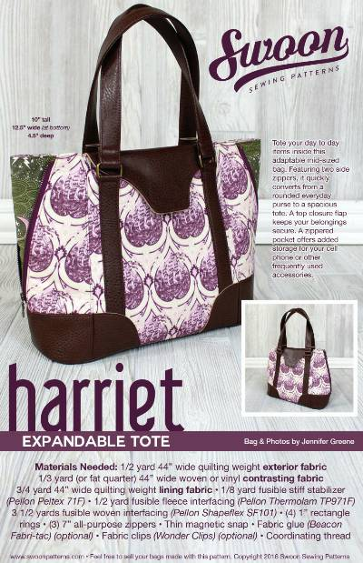 Harriet Expandable Tote Pattern * - Click Image to Close
