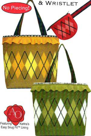 Artful Argyle Tote and Wristlet Bag Pattern - Click Image to Close