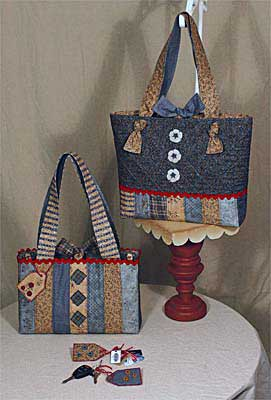 Gone To Strip'n' Pieces Quilted Tote and Purse Pattern - Click Image to Close