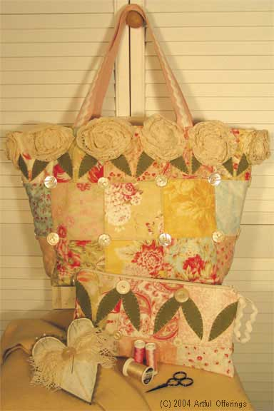 Patchwork Project Purse Pattern - Click Image to Close