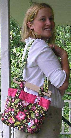 Cheryl's Bag Pattern with Handles (Cross Town Carry) - Click Image to Close
