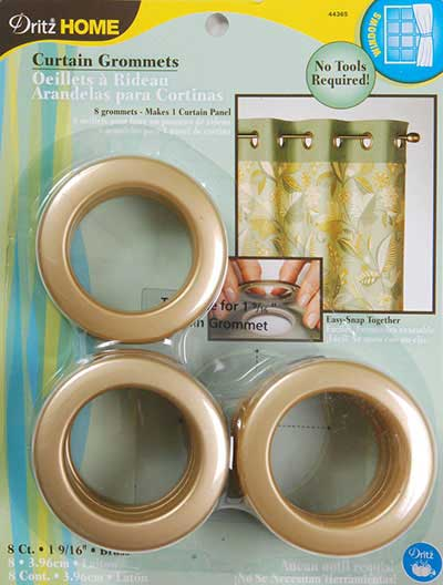 Large Grommets in Brass Color - Click Image to Close