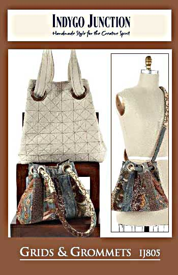 """Details about  /INDYGO JUNCTION BAG//TOTE PATTERN /""""GRIDS AND GROMMETS #IJ805 NEW"""