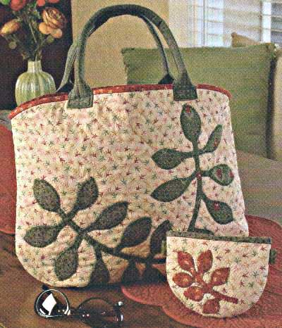 Flora Applique Tote and Pouch Pattern - Click Image to Close