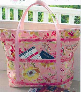Quilted Travelers Tote Pattern - Click Image to Close