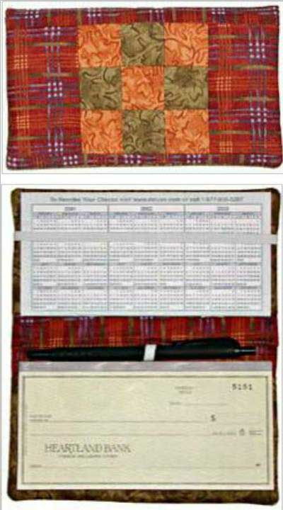 Checkbook Cover Pattern - Click Image to Close