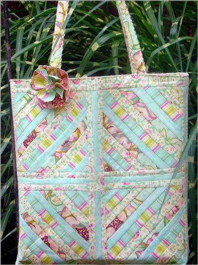 Squared Away Quilted Tote Pattern - Click Image to Close
