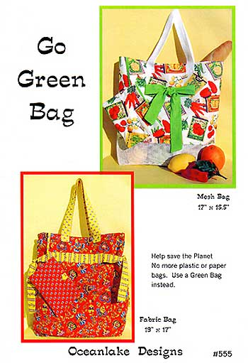 Go Green Bag Pattern - Click Image to Close