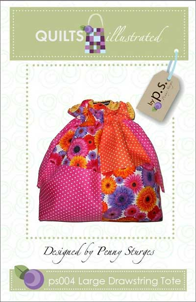 Large Drawstring Tote Pattern - Click Image to Close