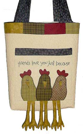 Chook Friends Bag Pattern - Click Image to Close