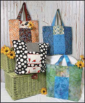 Six Pack Stack Reversible Tote Pattern - Click Image to Close