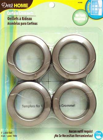 Large Grommets in Pewter - Click Image to Close
