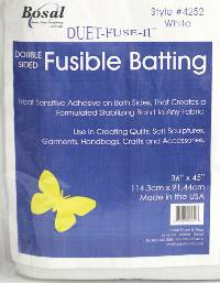 4252-36 Duet Fuse II Double Sided Fusible Batting - White
